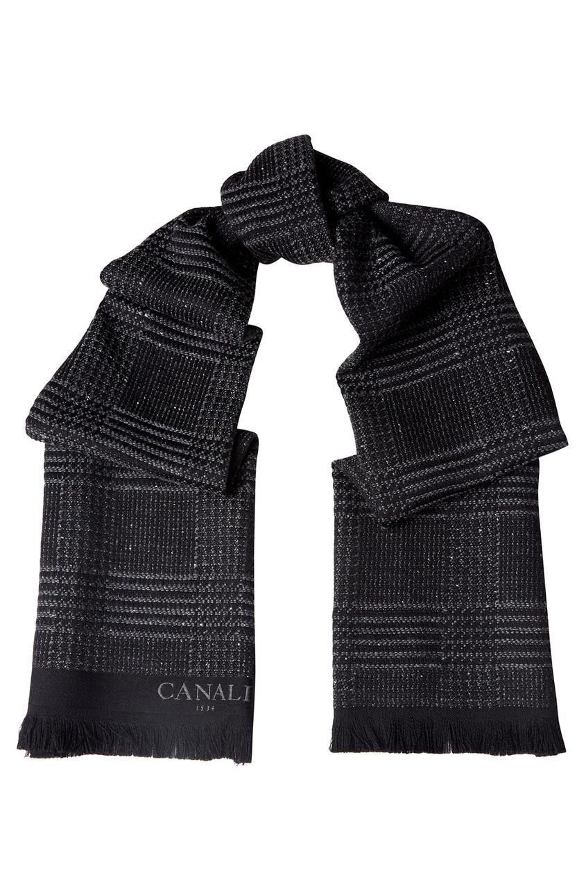 Canali Шарф в клетку платье в клетку madeleine dark check