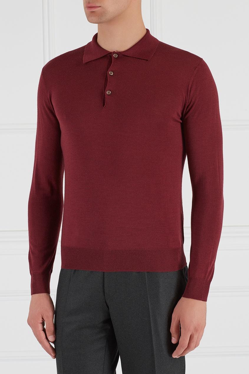 Шерстяной свитер-поло