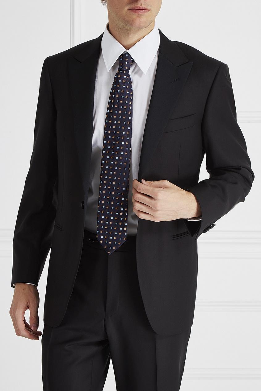 Canali Галстук с узором мужская одежда с длинным рукавом с капюшоном с длинным рукавом