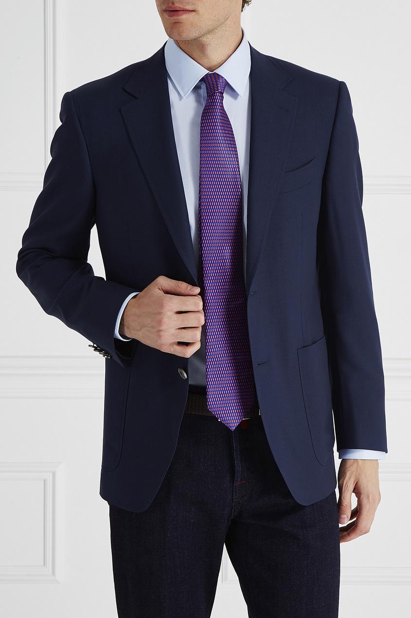 Canali Галстук с цветным рисунком мужская одежда с длинным рукавом с капюшоном с длинным рукавом
