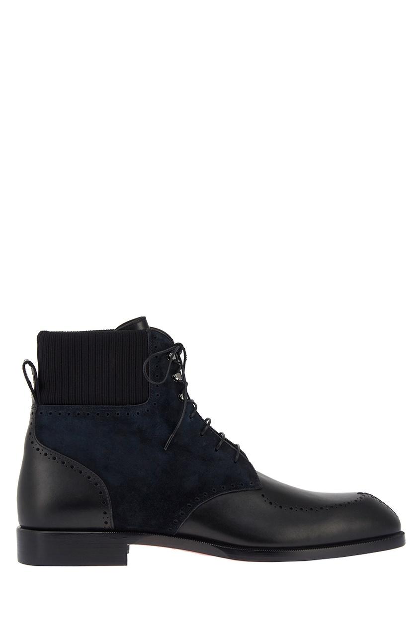 Christian Louboutin Комбинированные ботинки Wolfgang Flat