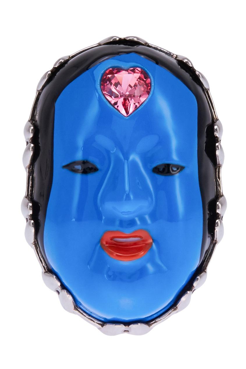 Gucci Кольцо с эмалью и кристаллом
