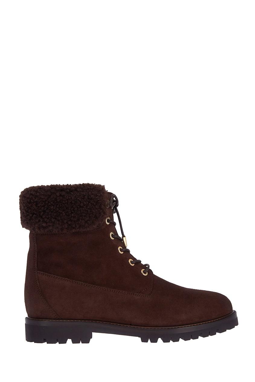 Aquazzura Замшевые ботинки The Heilbrunner цены онлайн