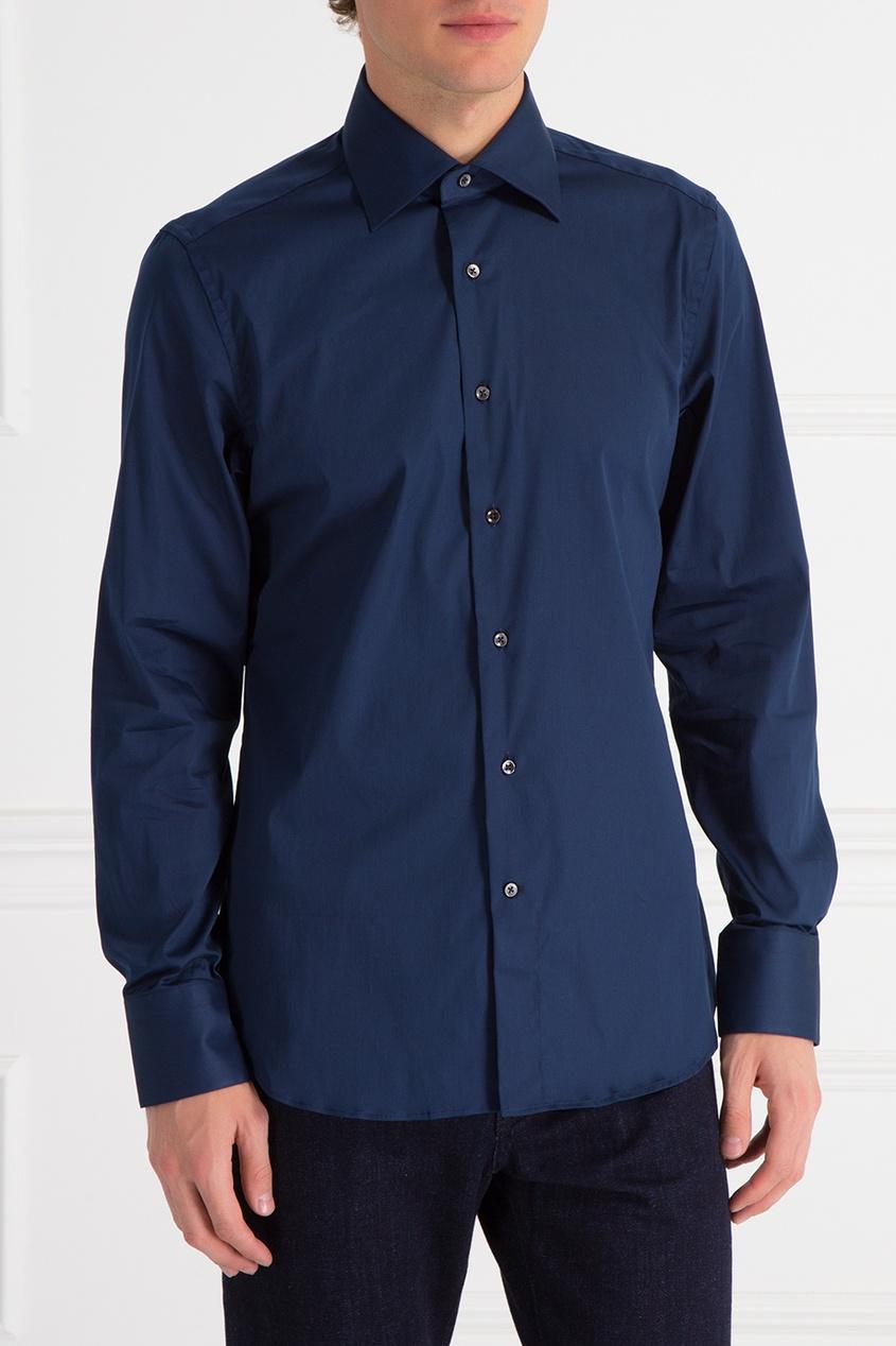 Canali Однотонная рубашка брюки tom tailor denim 6403342 09 12 6889