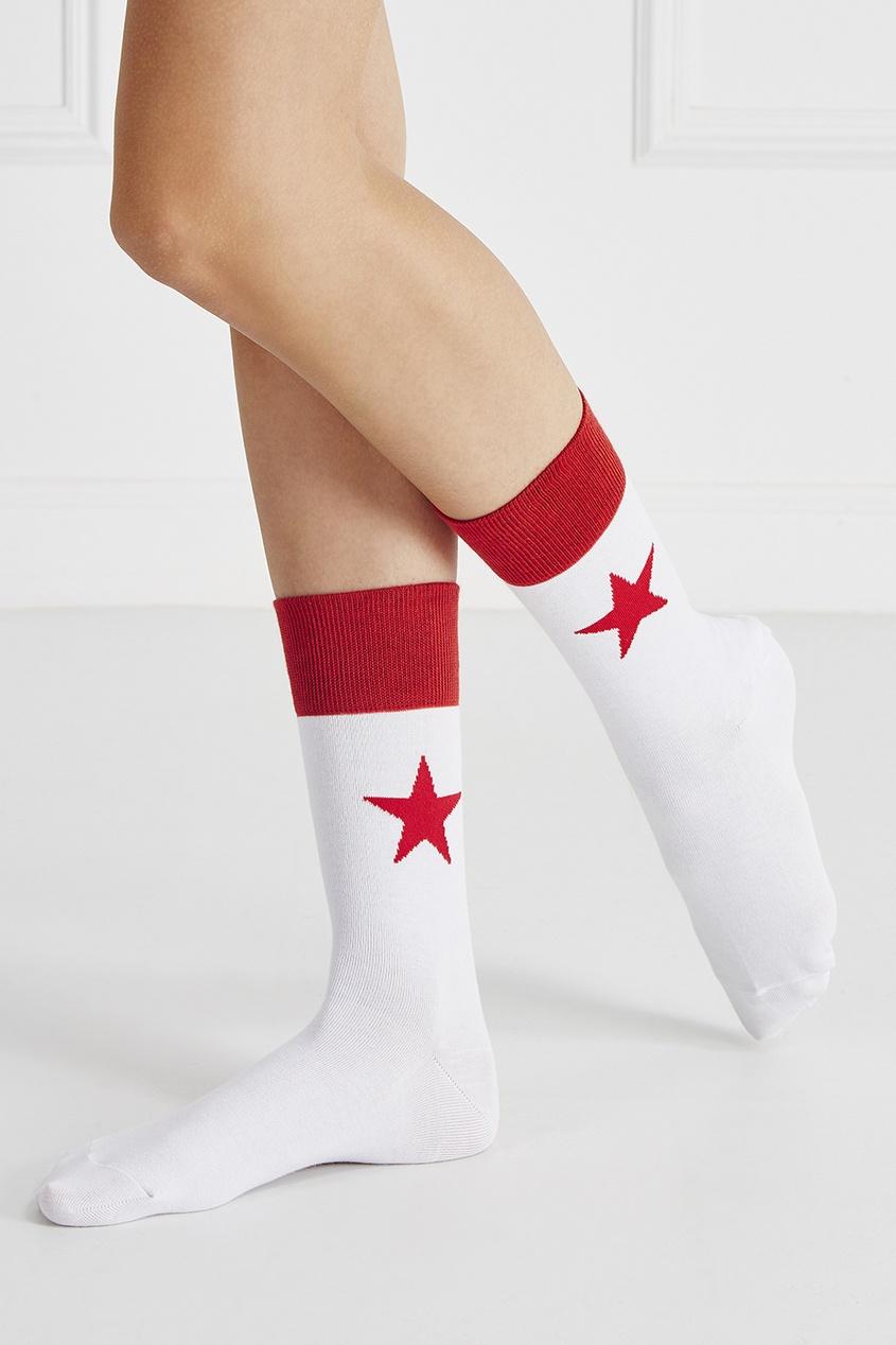 Хлопковые носки со звездой