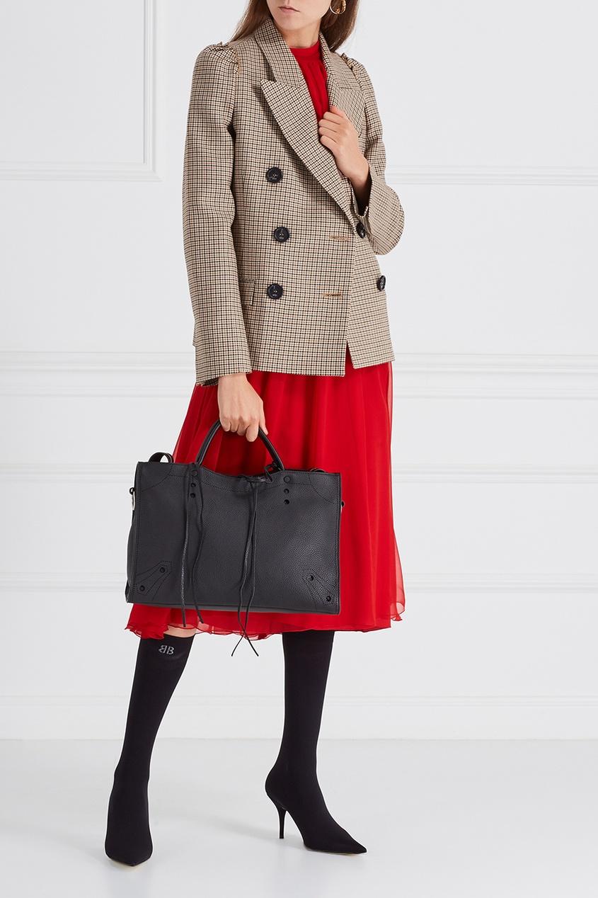 Balenciaga Кожаная сумка Blackuot City M