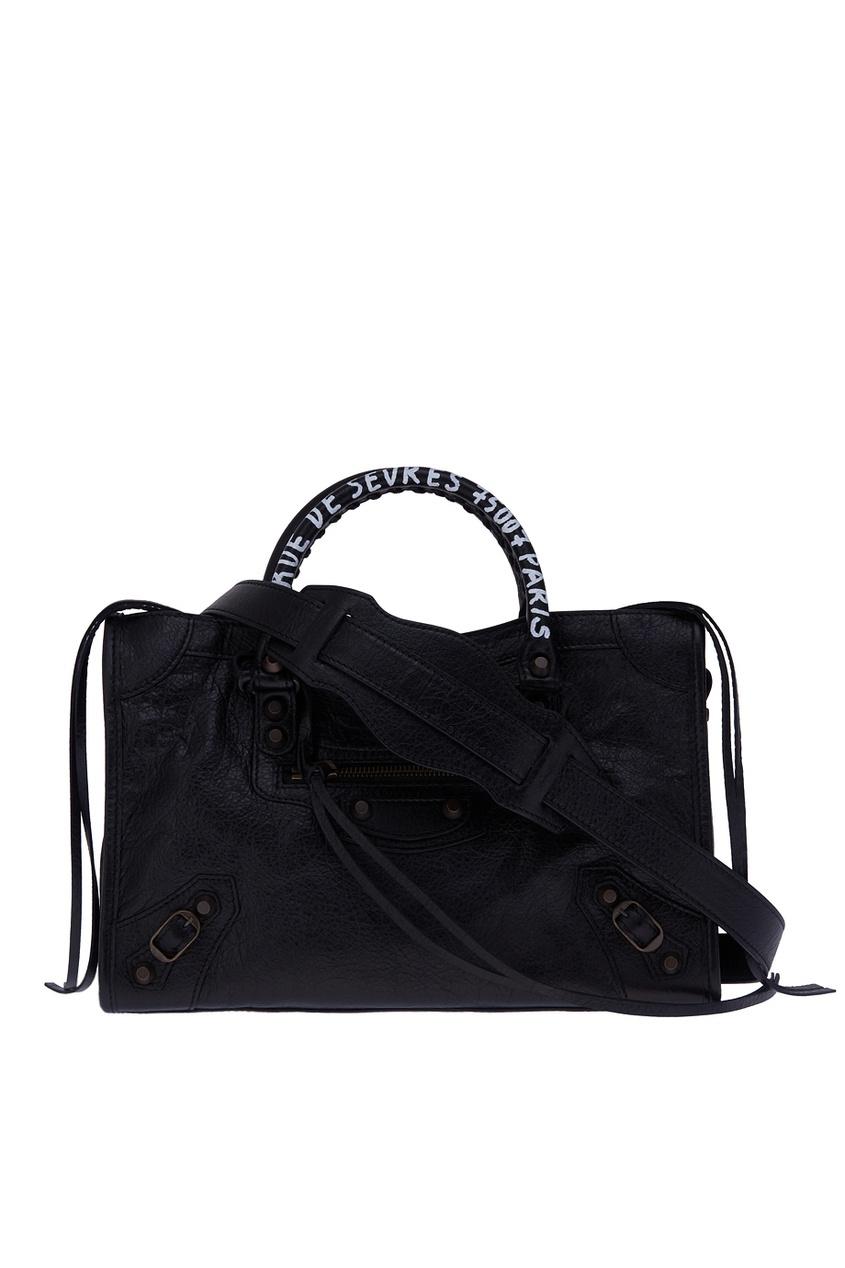 цена Balenciaga Кожаная сумка Classic City S онлайн в 2017 году