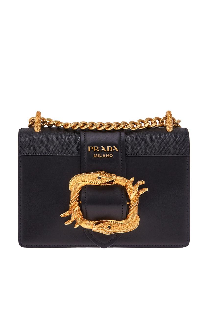 Prada Кожаная сумка Cahier сумка prada nms14 v1tn6 n5887s
