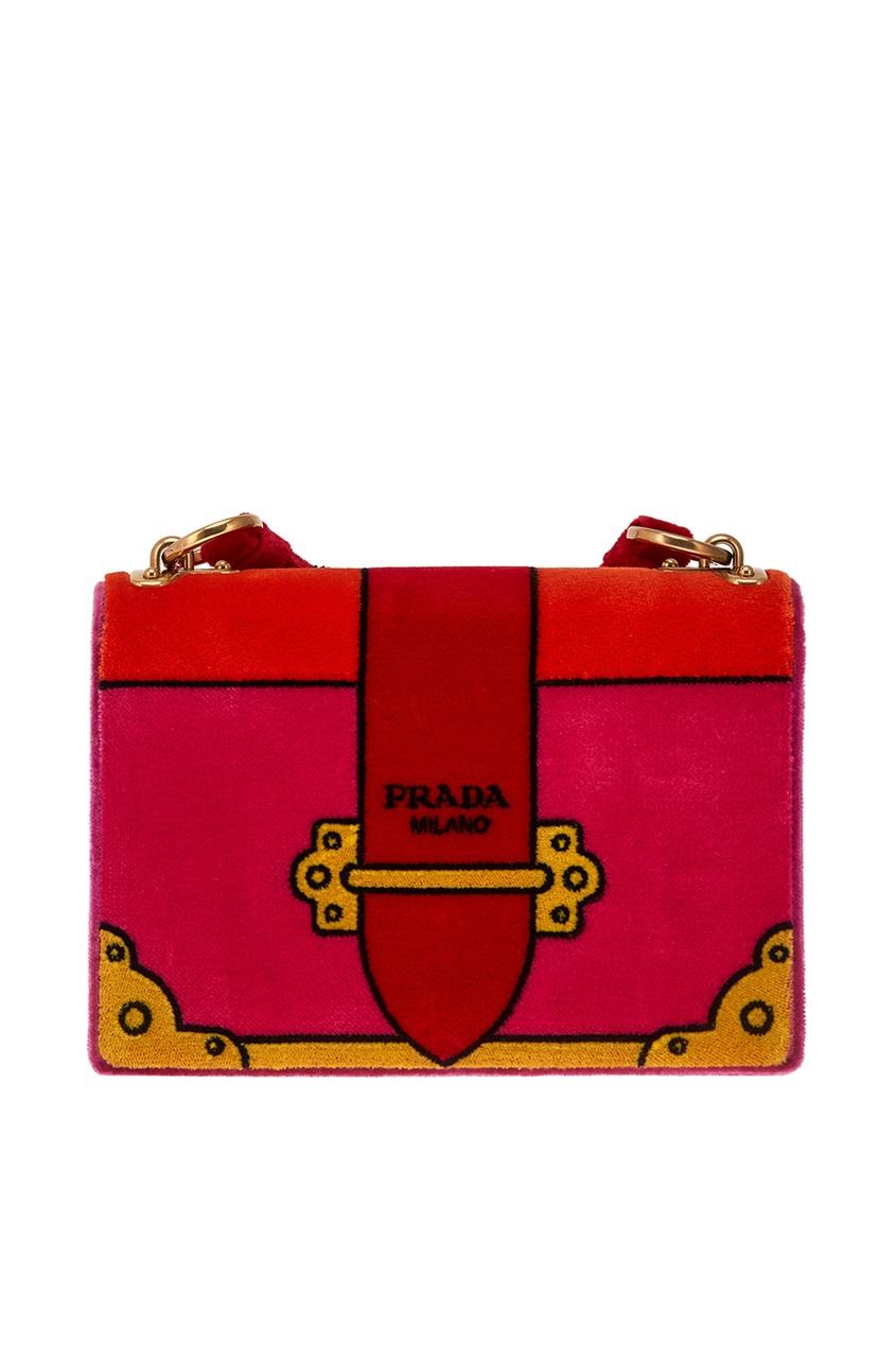 Prada Бархатная сумка Cahier le kiosque 1 cahier