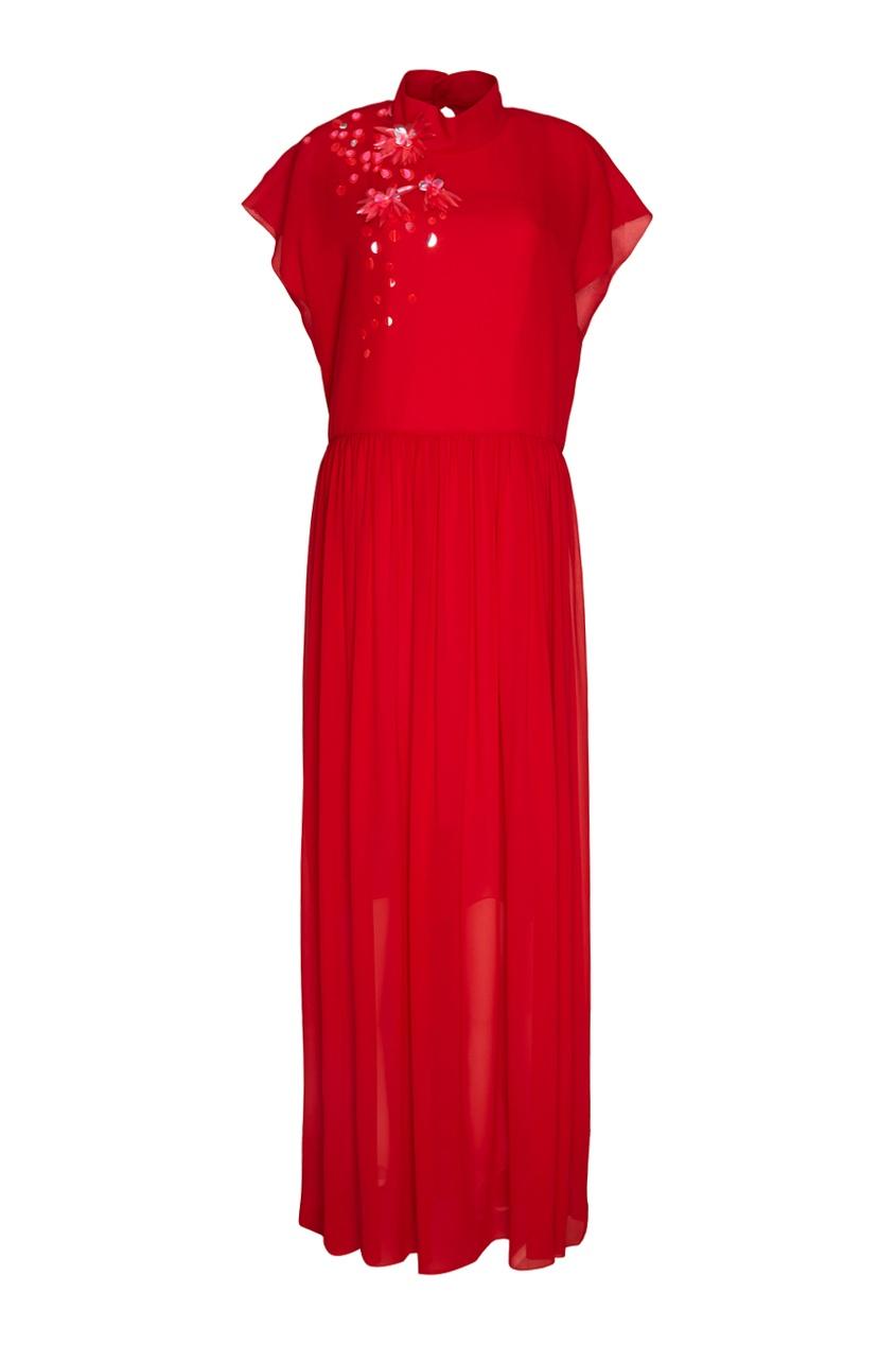 Delpozo Шелковое платье