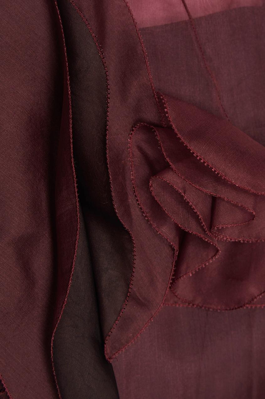 delpozo юбка из хлопка и шелка Delpozo Шелковое платье