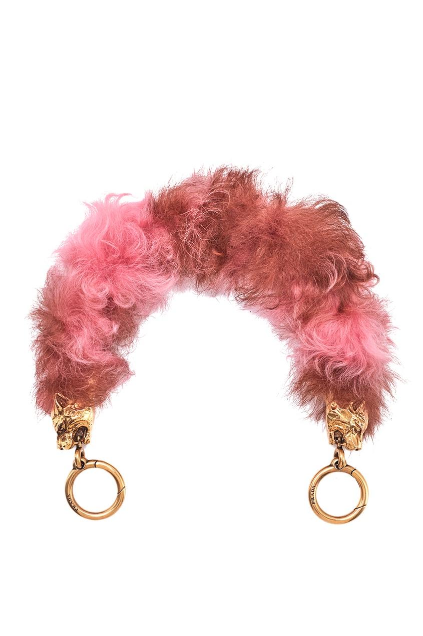 женский ремень prada, розовый