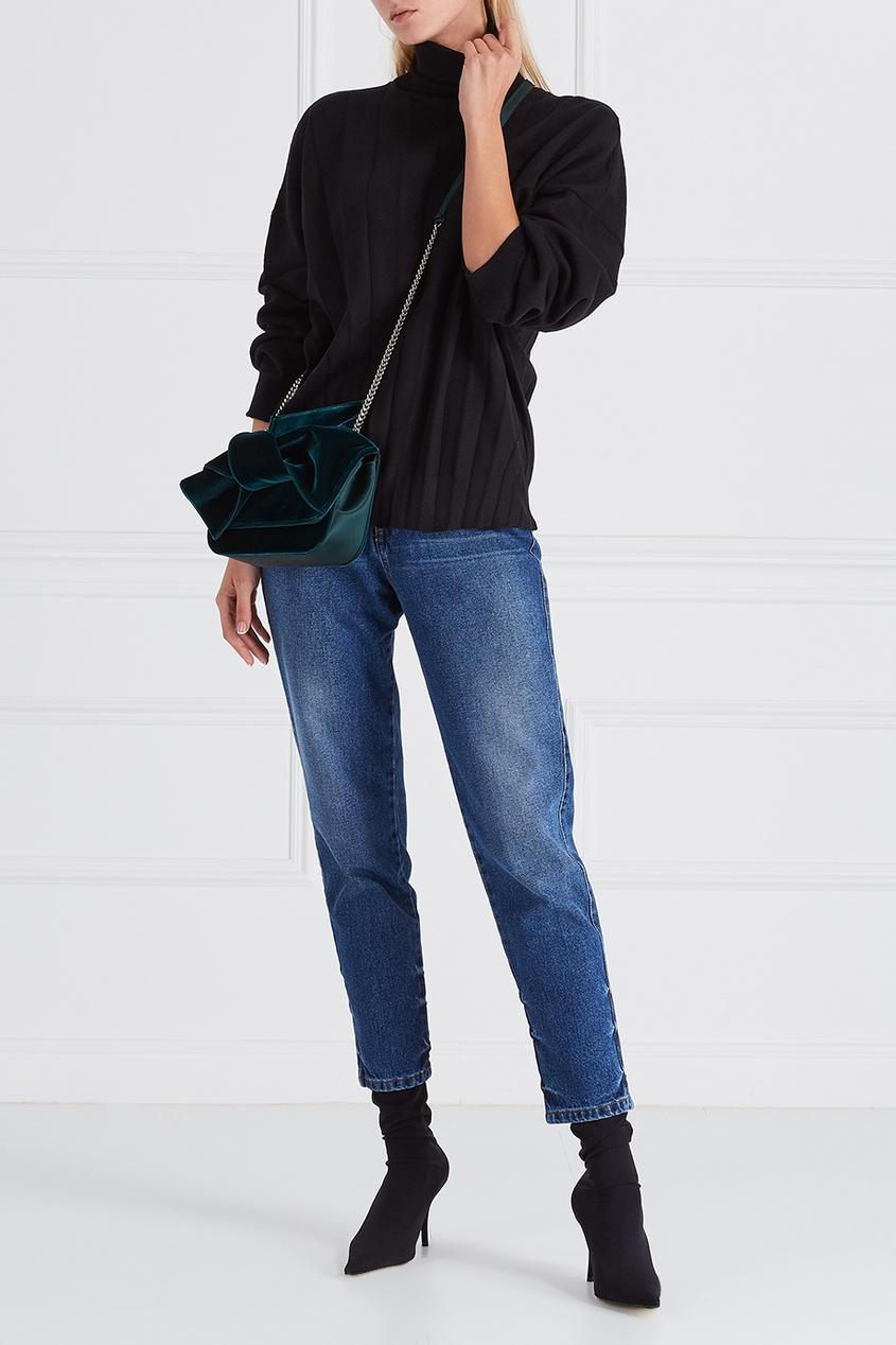 Balenciaga Шерстяной свитер пуловер свободный с воротником с отворотом plunkett