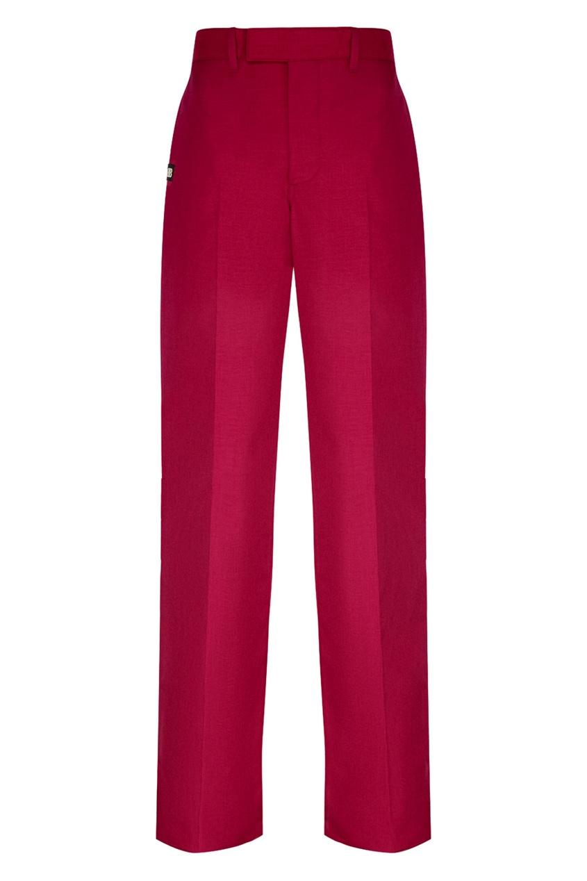 Balenciaga Однотонные брюки с лампасами