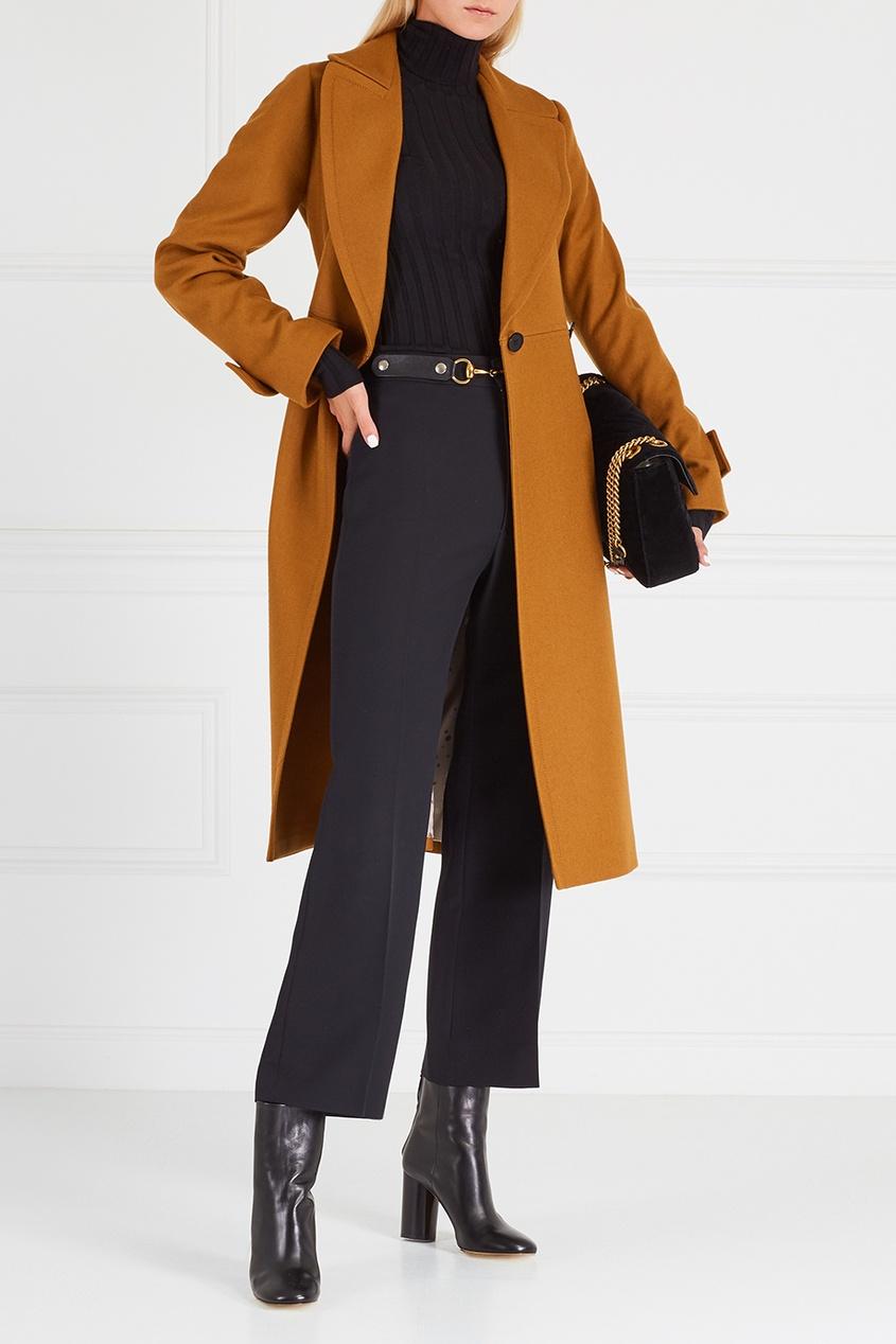 Luda Nikishina Пальто из шерсти и кашемира пальто драповое 30% шерсти