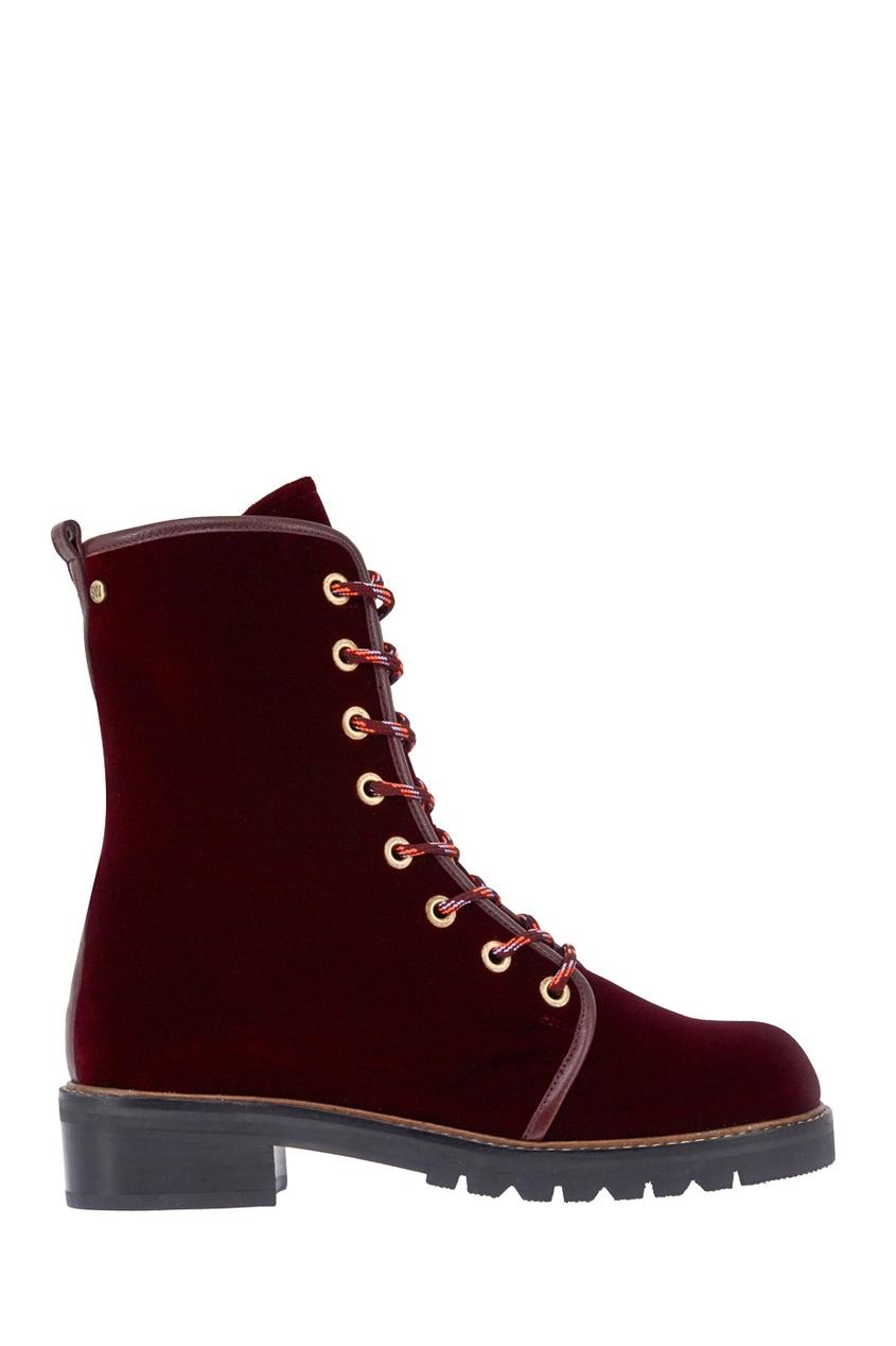 Бархатные ботинки