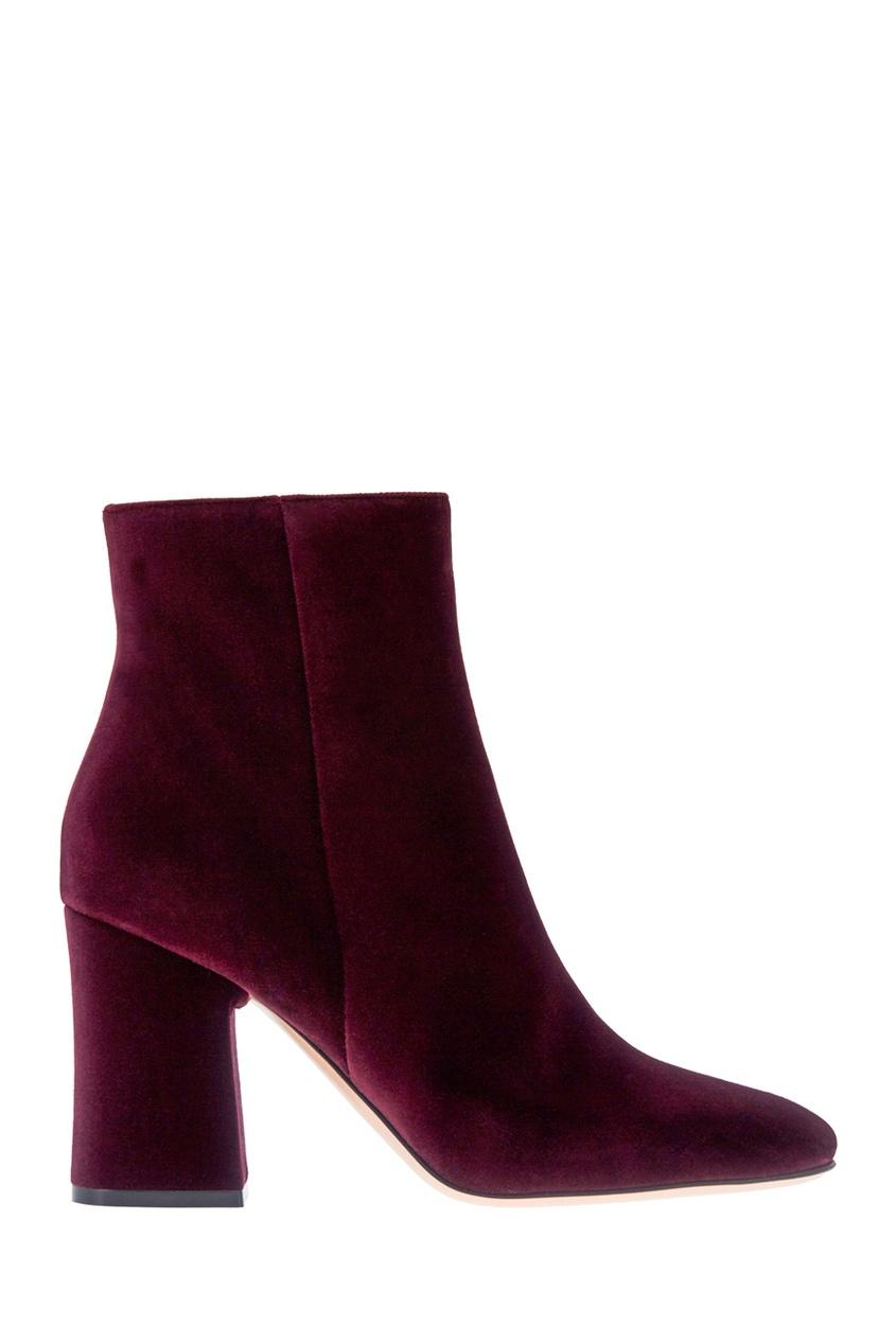 Gianvito Rossi Бархатные ботильоны gianvito rossi кожаные босоножки