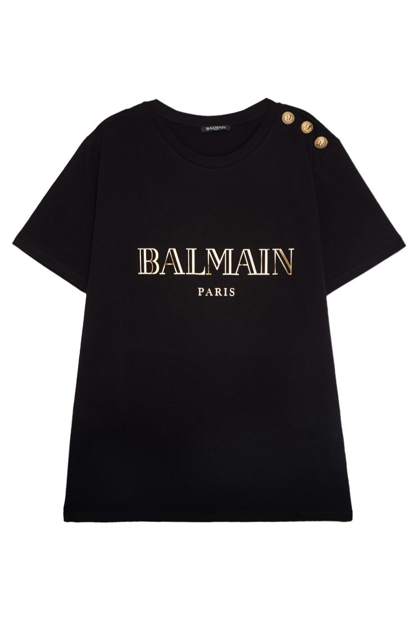 Хлопковая футболка от Balmain