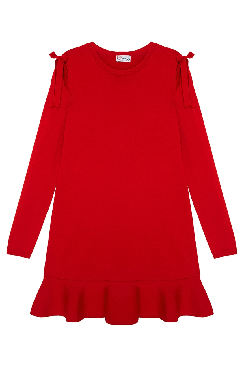 цена  Red Valentino Платье с воланом  онлайн в 2017 году