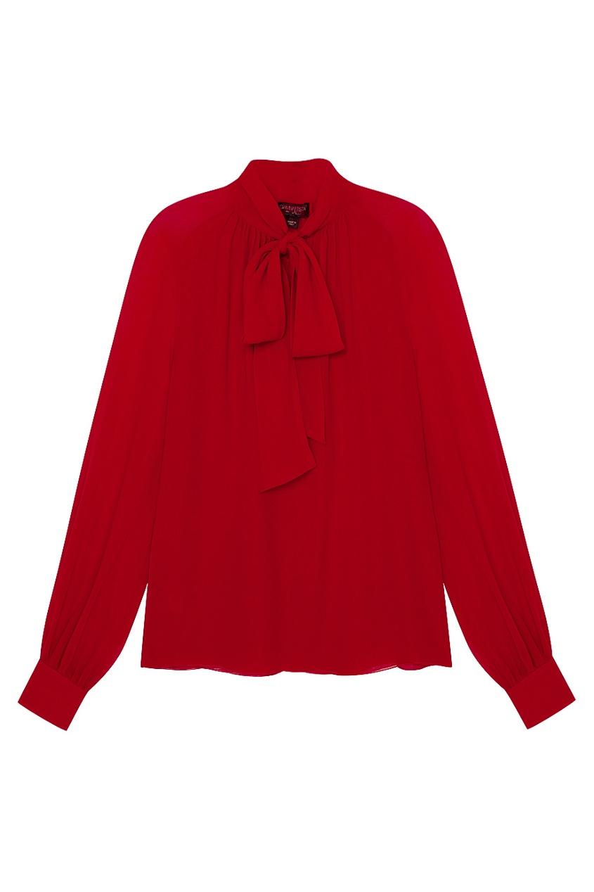 женская блузка giambattista valli, красная