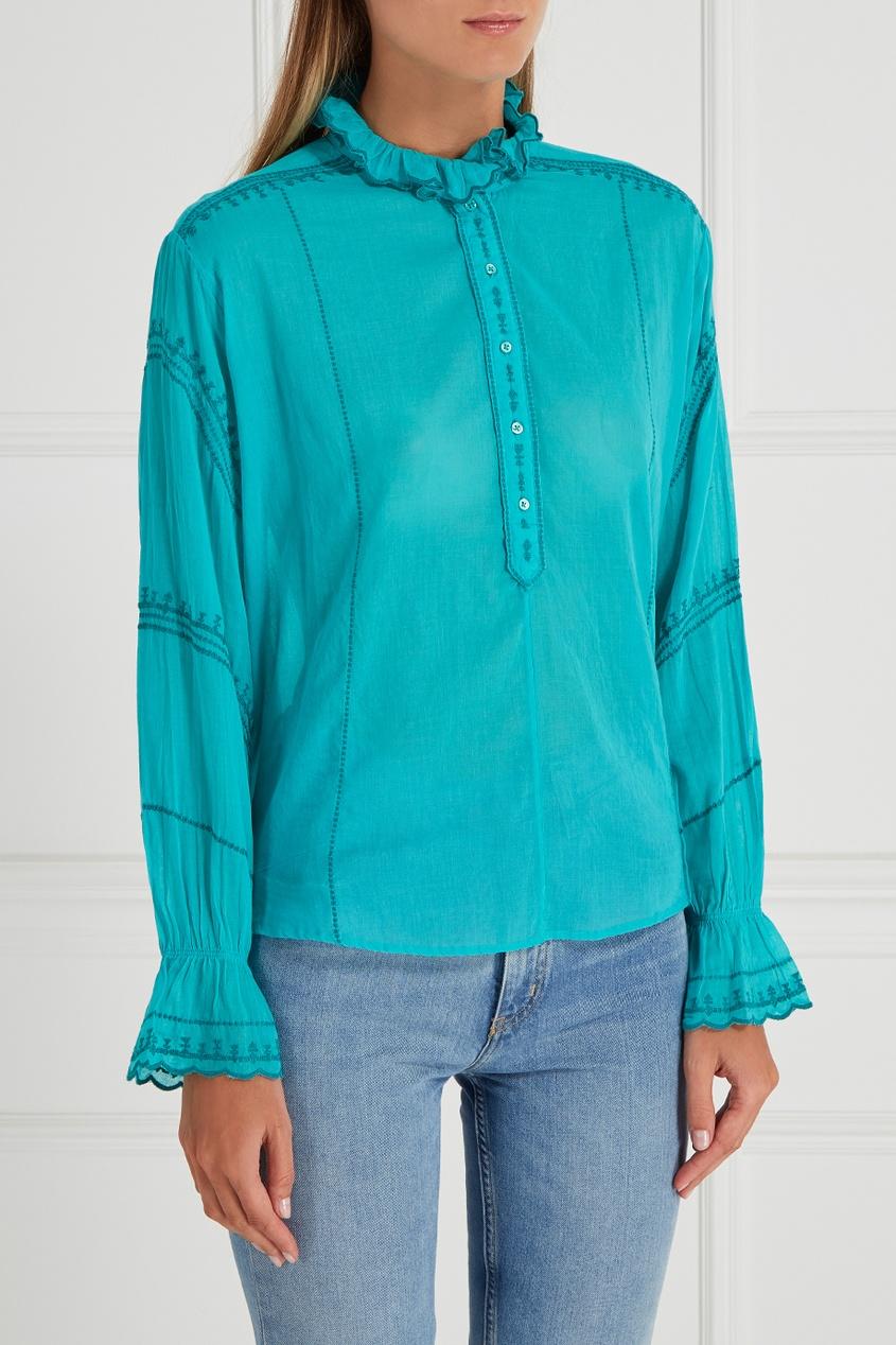 где купить  Isabel Marant Etoile Хлопковая блузка Louna  по лучшей цене