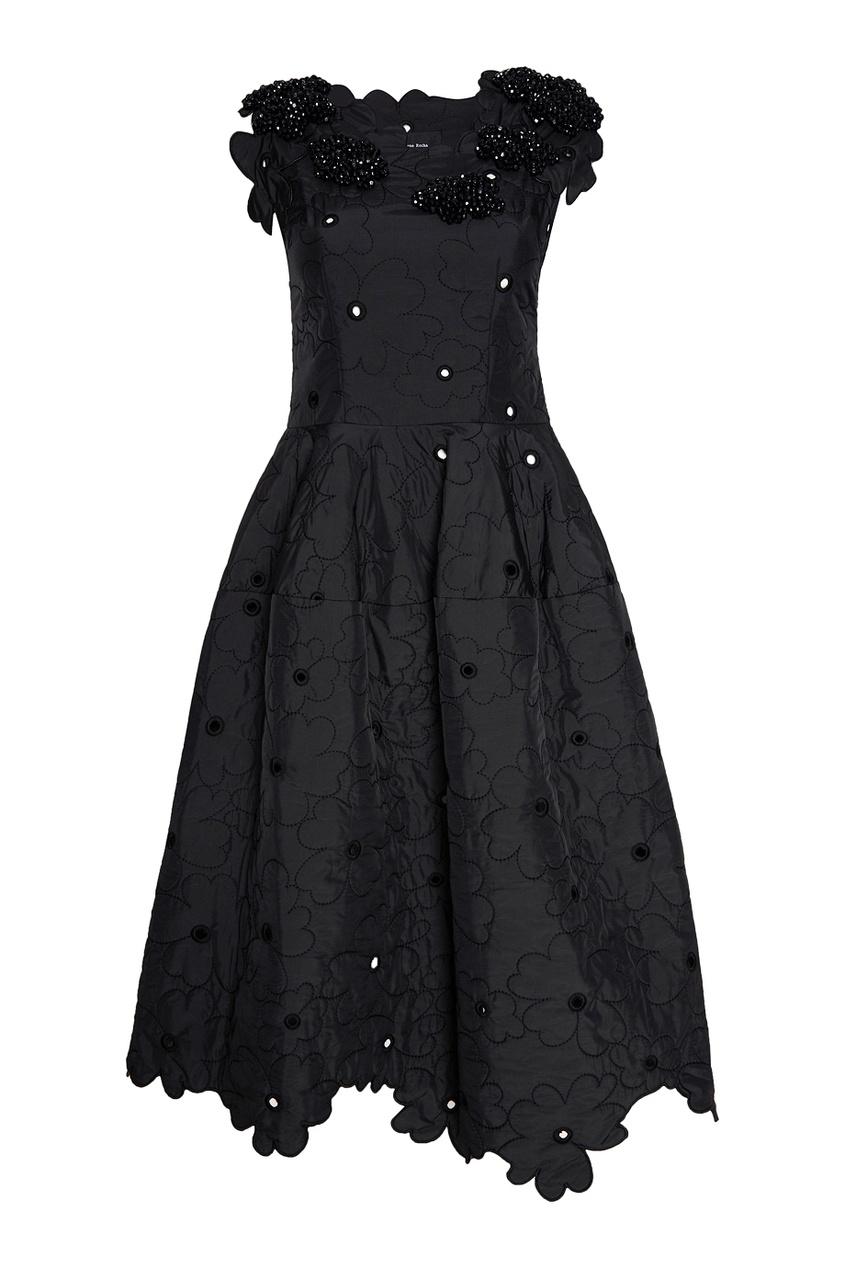 цена Simone Rocha Платье с вышивкой кристаллами онлайн в 2017 году