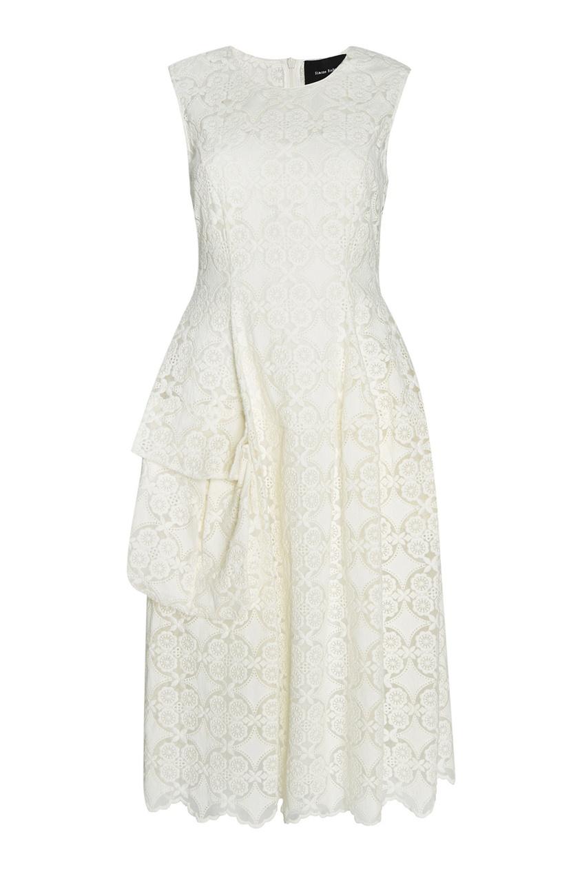 где купить  Simone Rocha Хлопковое платье  по лучшей цене