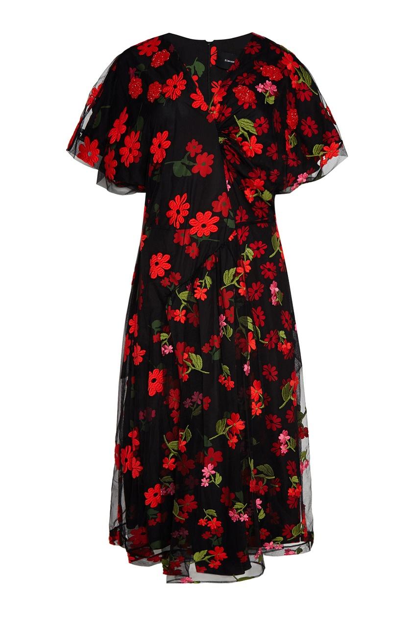 цена Simone Rocha Платье с вышивкой онлайн в 2017 году