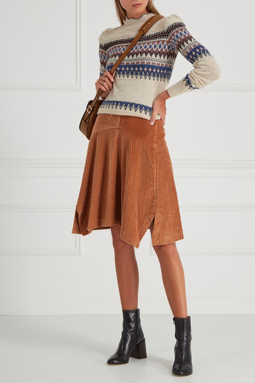 Вельветовая юбка Raffi
