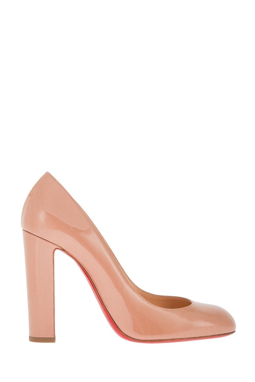 Christian Louboutin Лакированные туфли Cadrilla 100 цены онлайн