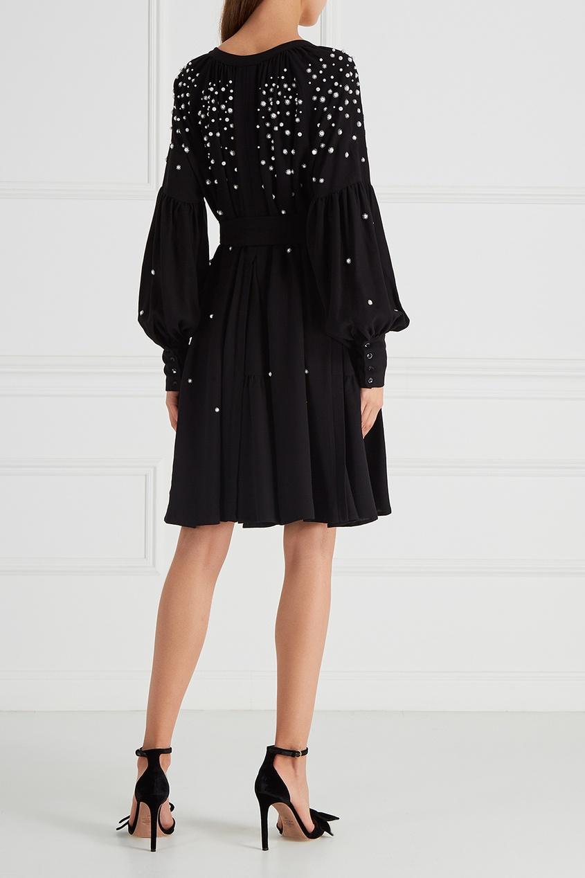Платье с вышивкой бусинами