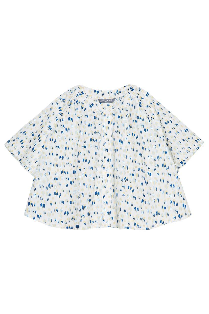 My Junior Хлопковая блузка с принтом блузка junior republic блузка