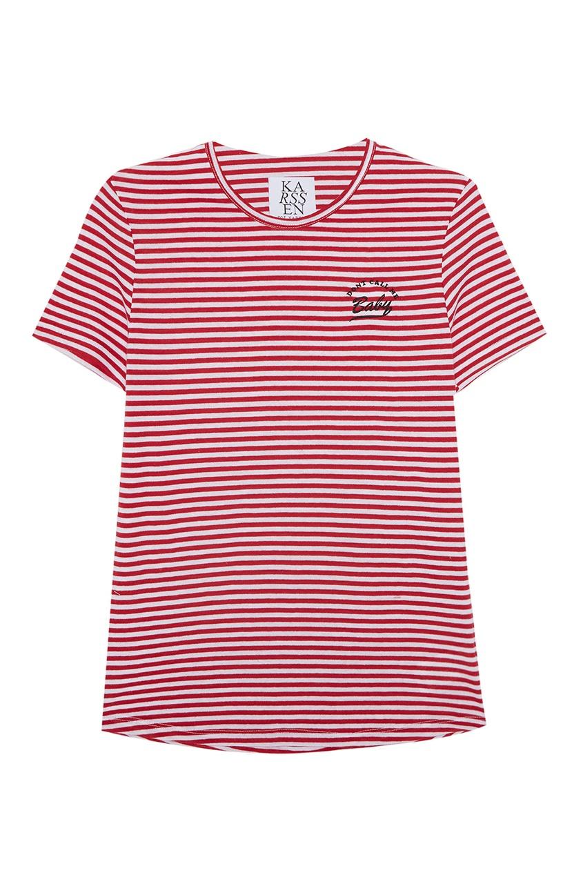 Zoe Karssen Хлопковая футболка свитшот zoe karssen zoe karssen zo006ewoop27