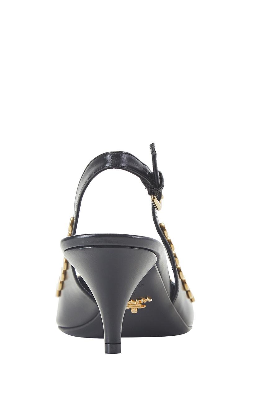 Prada Кожаные туфли кожаные туфли на низком каблуке lizard кожаные туфли на низком каблуке