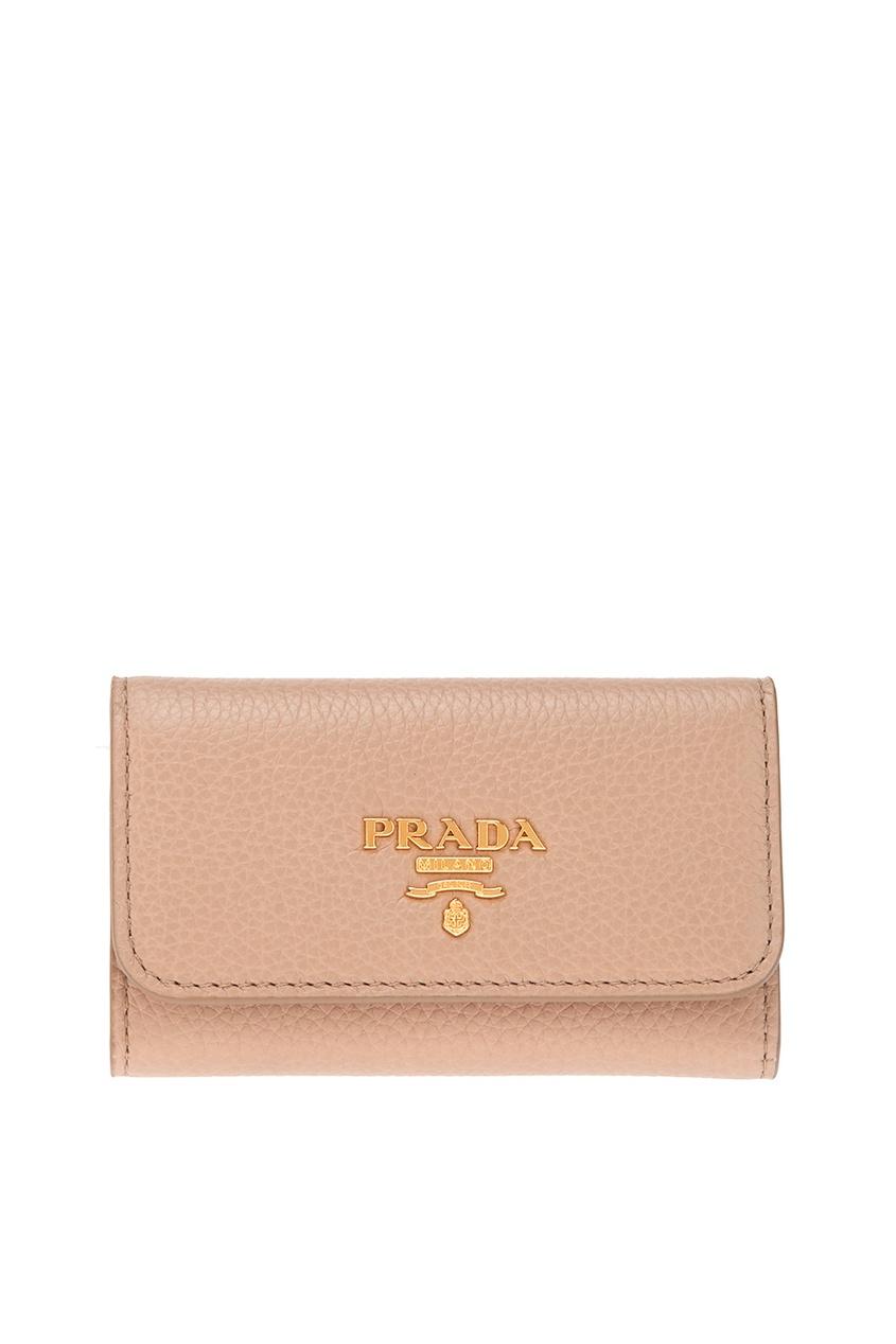 цена Prada Кожаная ключница онлайн в 2017 году