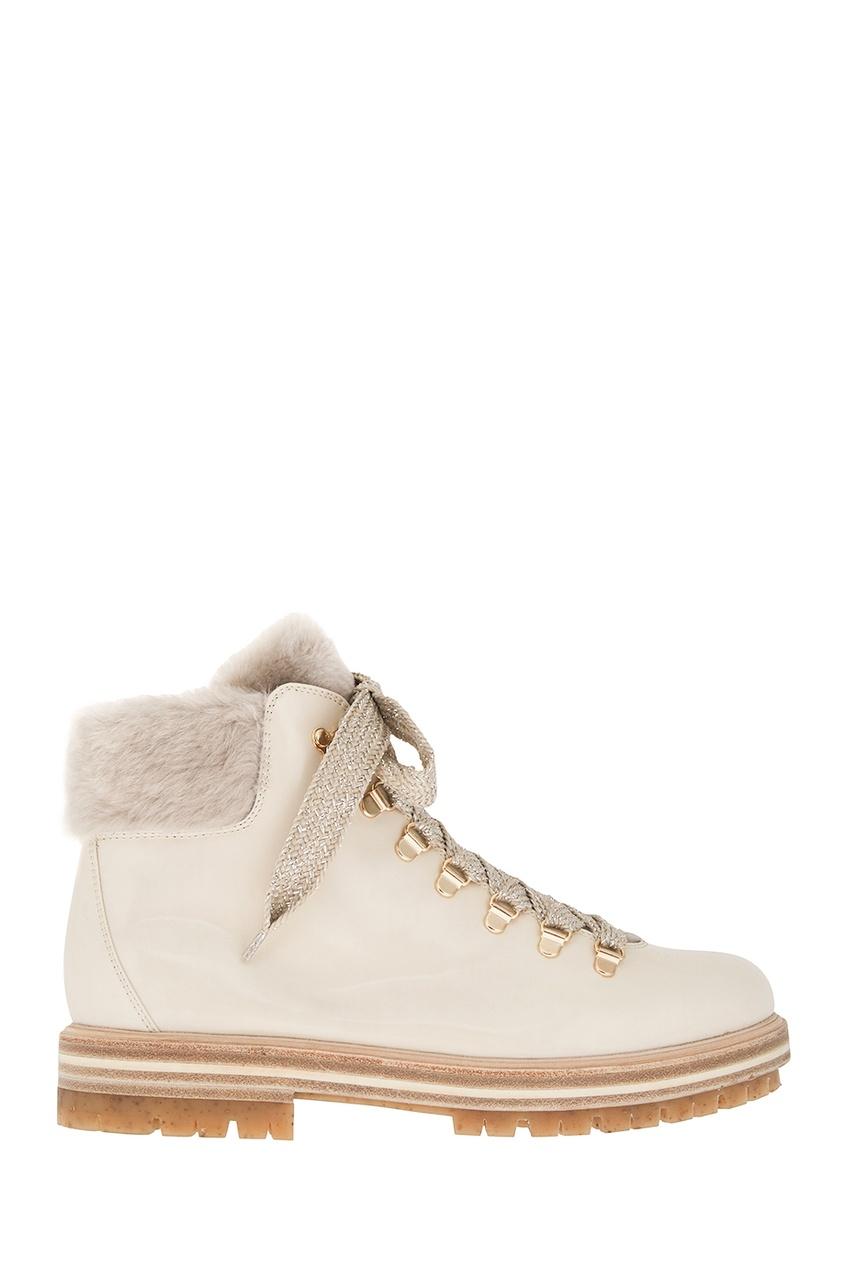 Кожаные ботинки с овчиной