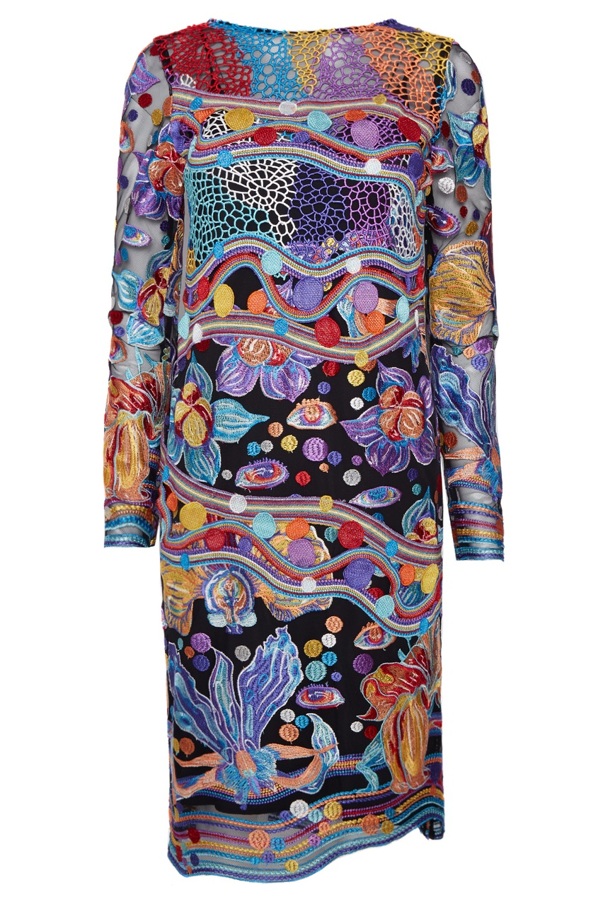 Купить со скидкой Платье с вышивкой