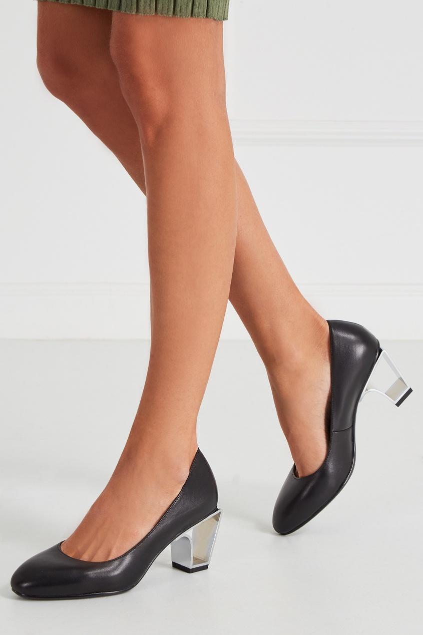 Черные кожаные туфли Icon Pump Mid
