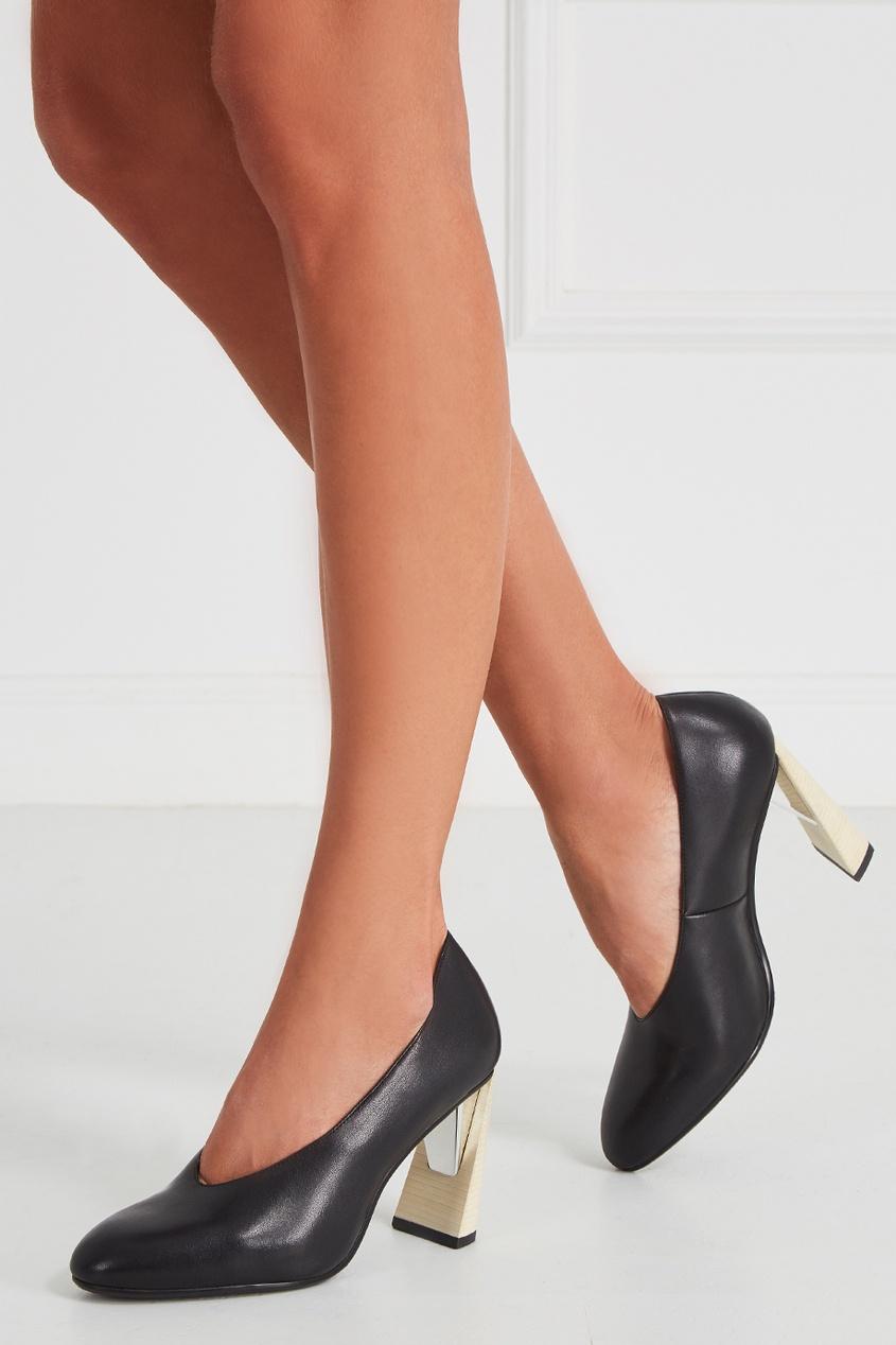 United Nude Черные туфли из кожи Zink Pump HI