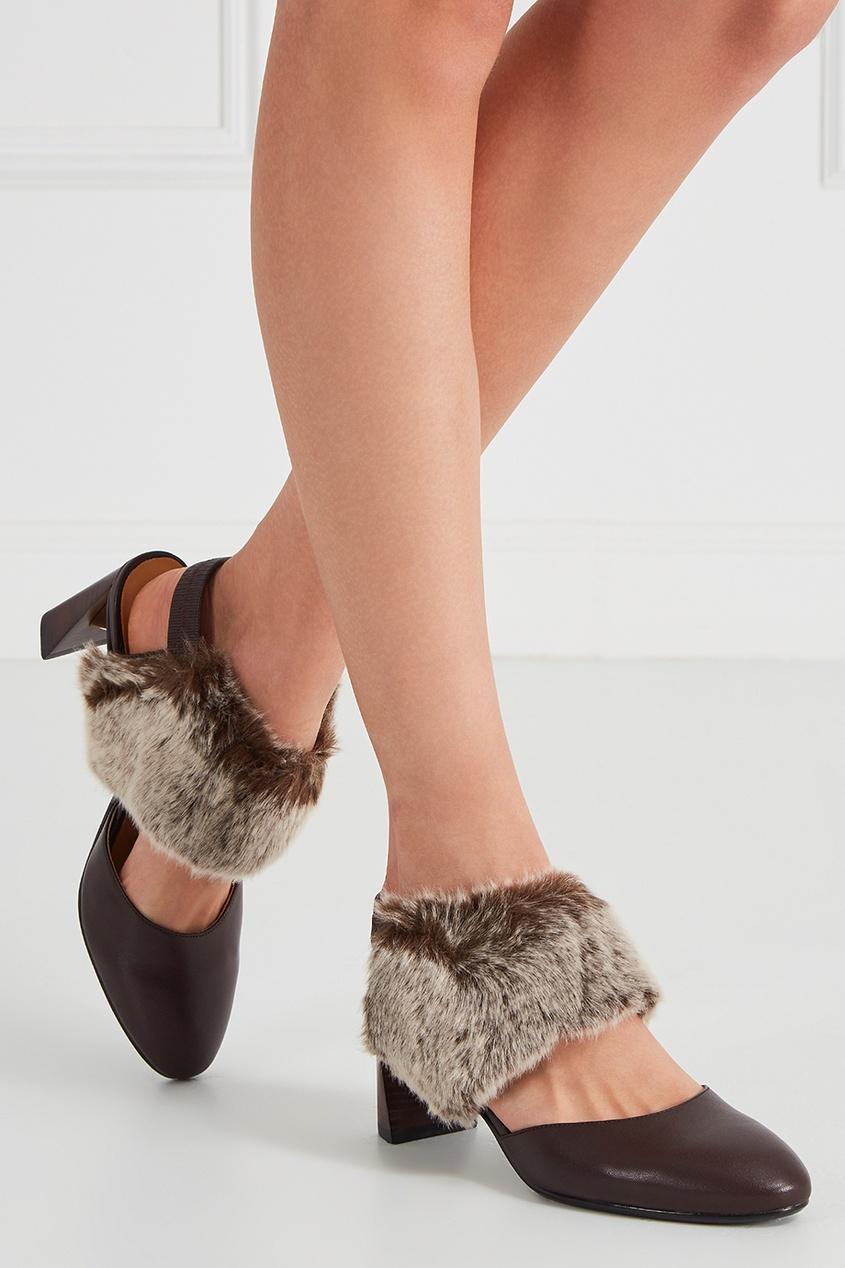 Коричневые туфли Zink Emma Mid