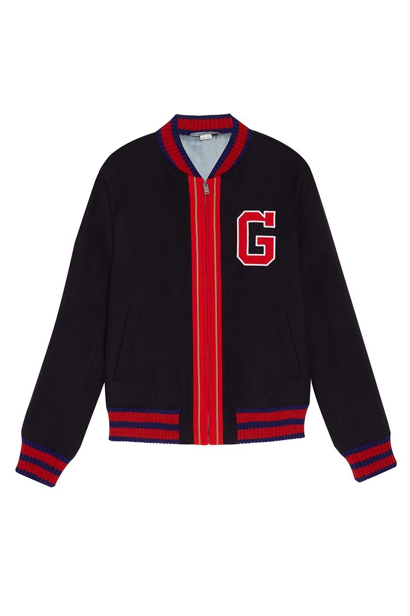 Gucci Куртка-бомбер с контрастной отделкой gucci черный бомбер с карманами