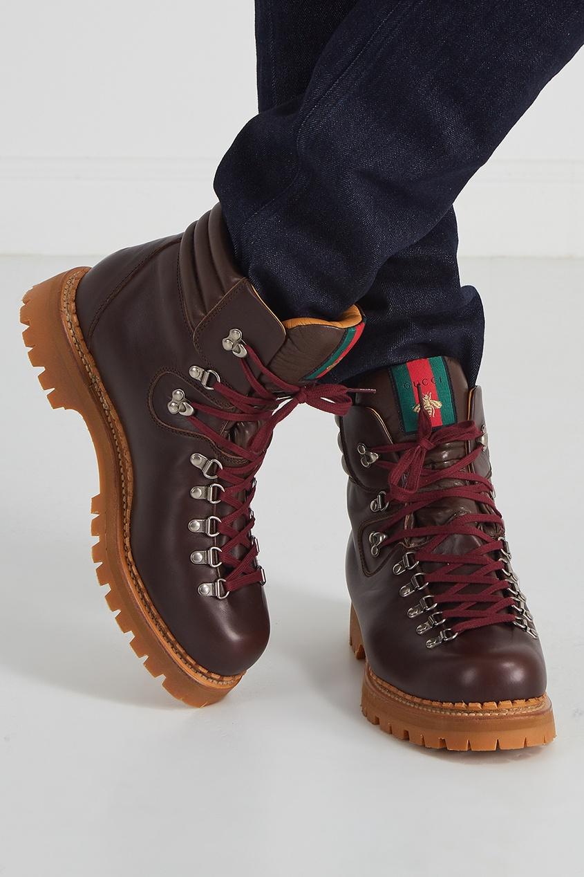 где купить  Gucci Кожаные ботинки  по лучшей цене