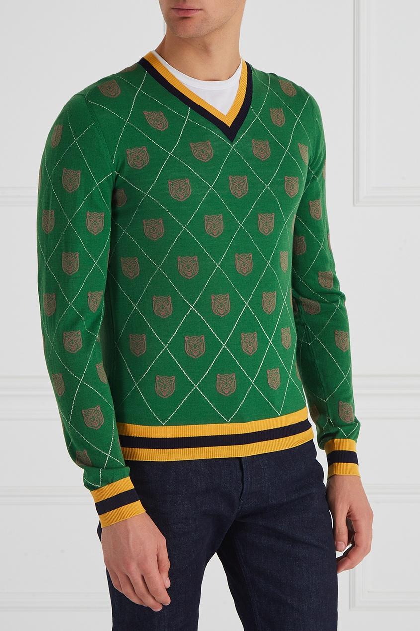 Хлопковый пуловер от Gucci