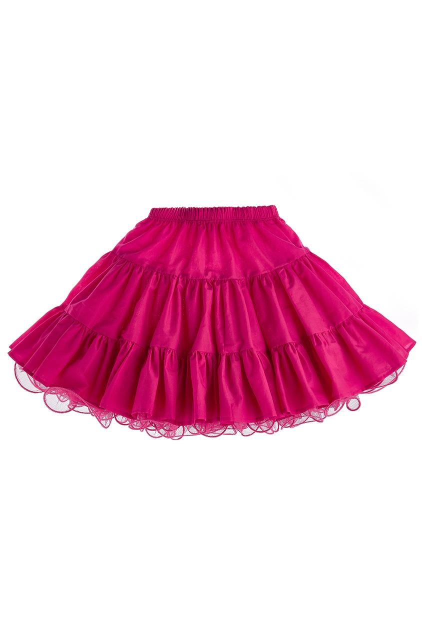 Двусторонняя юбка розовая