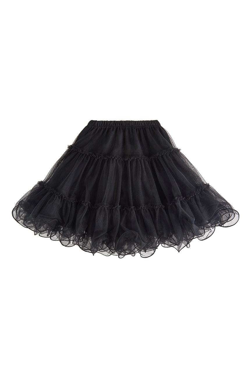 Двусторонняя юбка черная