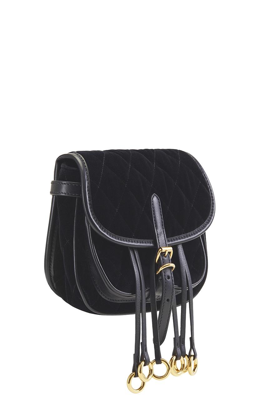 Prada Бархатная сумка Corsaire prada сумка от prada 100203