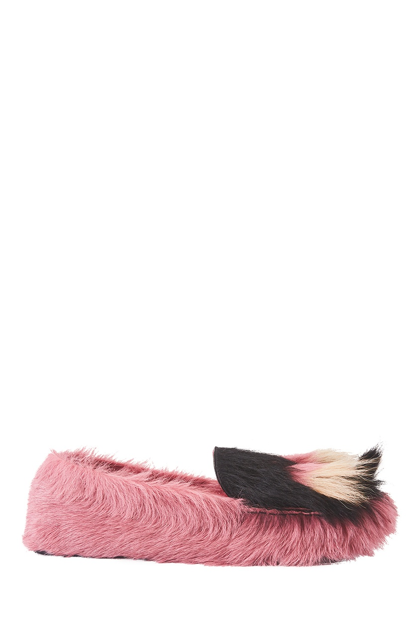 Prada Меховые лоферы меховые рукавицы из овчин