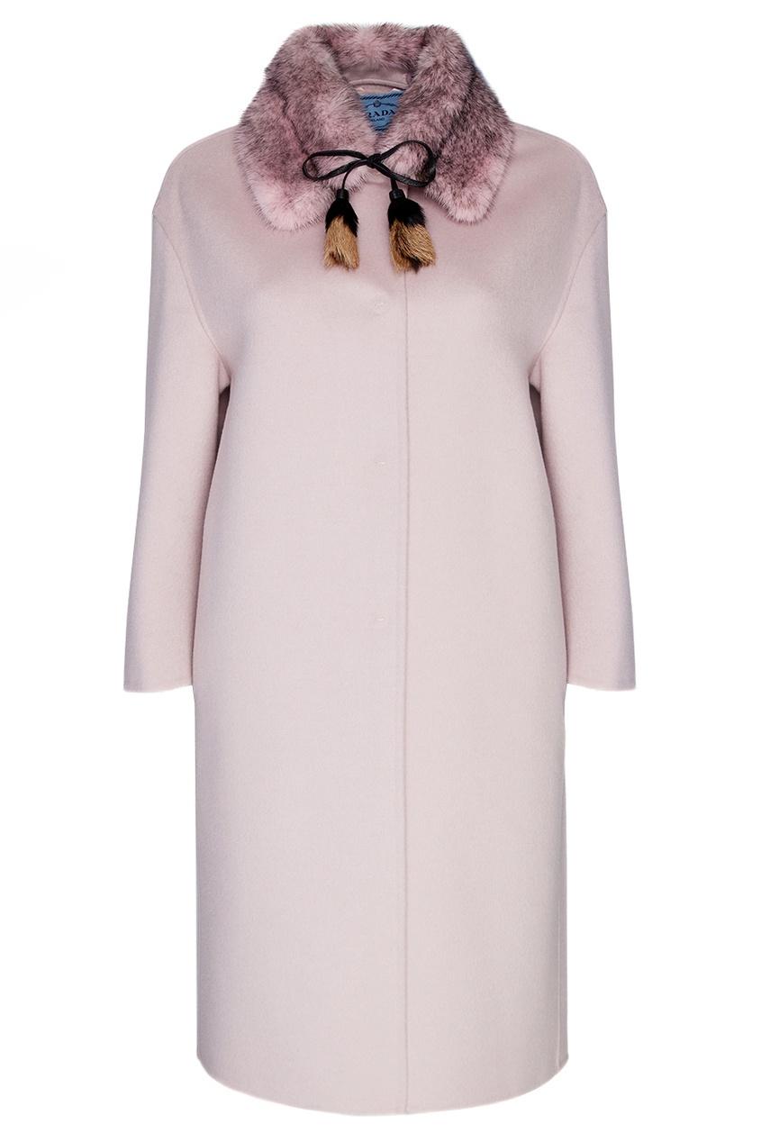 Пальто из шерсти и ангоры