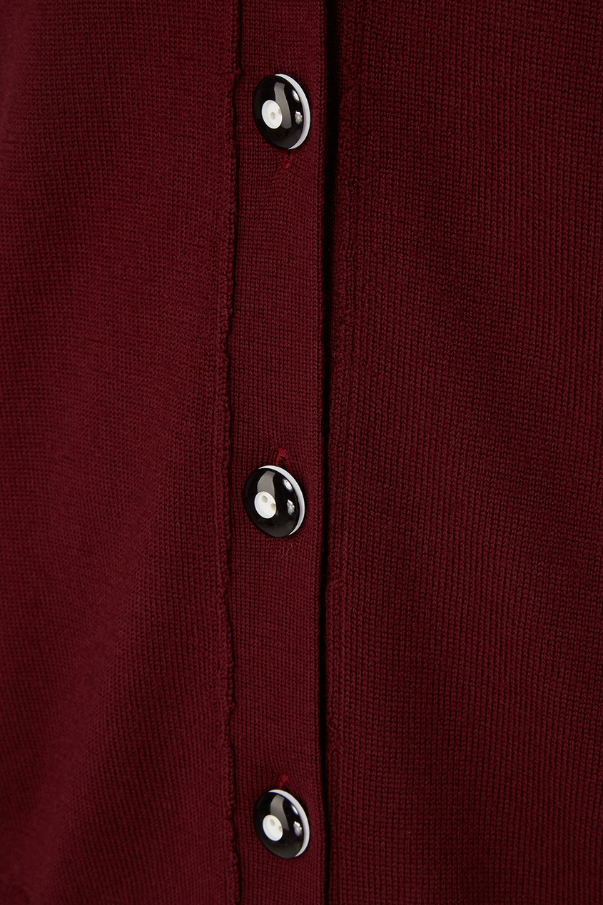 Шерстяной кардиган с поясом