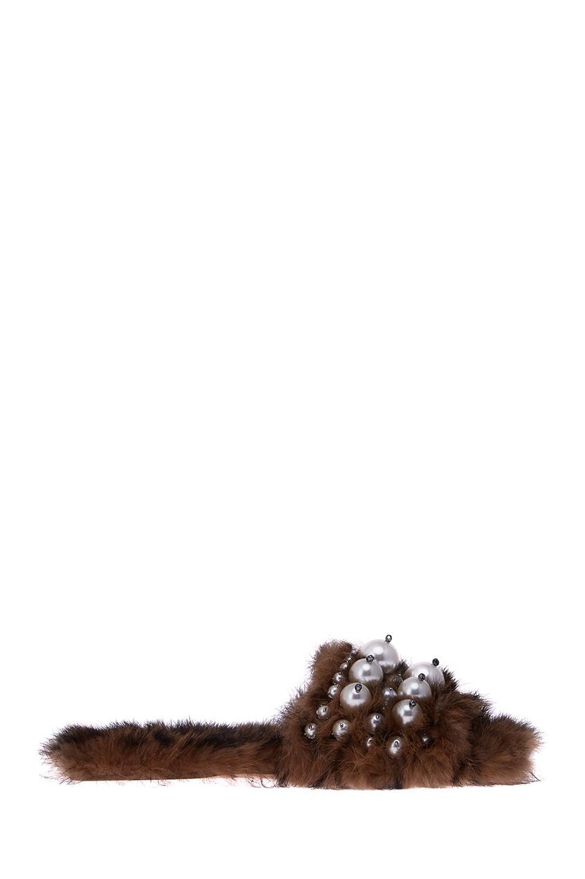 Miu Miu Слиперы из меха кролика слиперы beira rio слиперы